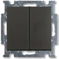 Выключатель 2-клавишный, chateau-черный - Abb Basic 55