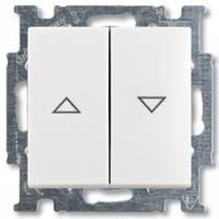 Выключатель жалюзи с фиксацией, белый - Abb Basic 55