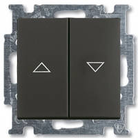 Выключатель жалюзи с фиксацией, chateau-черный - Abb Basic 55