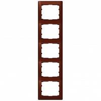 Рамка на 5 постов вертикальная, красное дерево - Legrand Galea Life