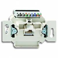Механизм компьютерной розетки RJ45 кат.5e, неэкранированная, 1-гнездо - Abb Busch-Jaeger Elektro