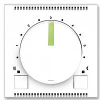 Блок управления универсального термостата с поворотным регулятором, белый/зеленo-ледяной - Abb Neo