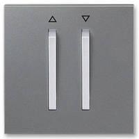 Лицевая панель механизма кнопочного выключателя жалюзи, сталь/титан - Abb Neo Tech