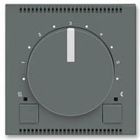 Блок управления универсального термостата с поворотным регулятором, графит/белo-ледяной - Abb Neo
