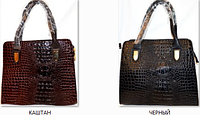 Функциональная сумка для женщин. Хорошее качество. Тиснение под крокодила. Практичная сумка. Код: КДН938