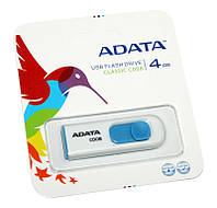 USB Flash Drive 4Gb A-DATA C008 White / AC008-4G-RWE (-)