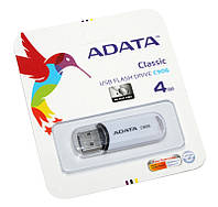 USB Flash Drive 4Gb A-DATA C906 White / AC906-4G-RWH (-)