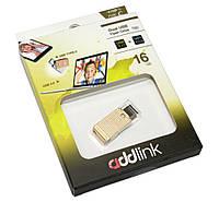 USB 3.0 Flash Drive 16Gb AddLink T60 Metal Gold + Type C / AD16GBT60R3