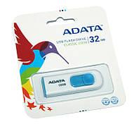 USB Flash Drive 32Gb A-DATA C008 White / AC008-32G-RWE (-)