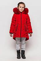 Куртка зимняя на девочку Мишель 146-158 р красная.