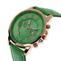 Часы наручные Geneva хронометр зеленые