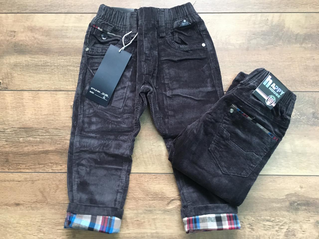 Вельветові штани для хлопчиків 1 рік