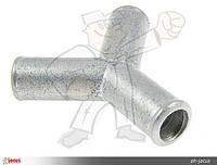 Тройник тосольный ГБО Y 16mm металл
