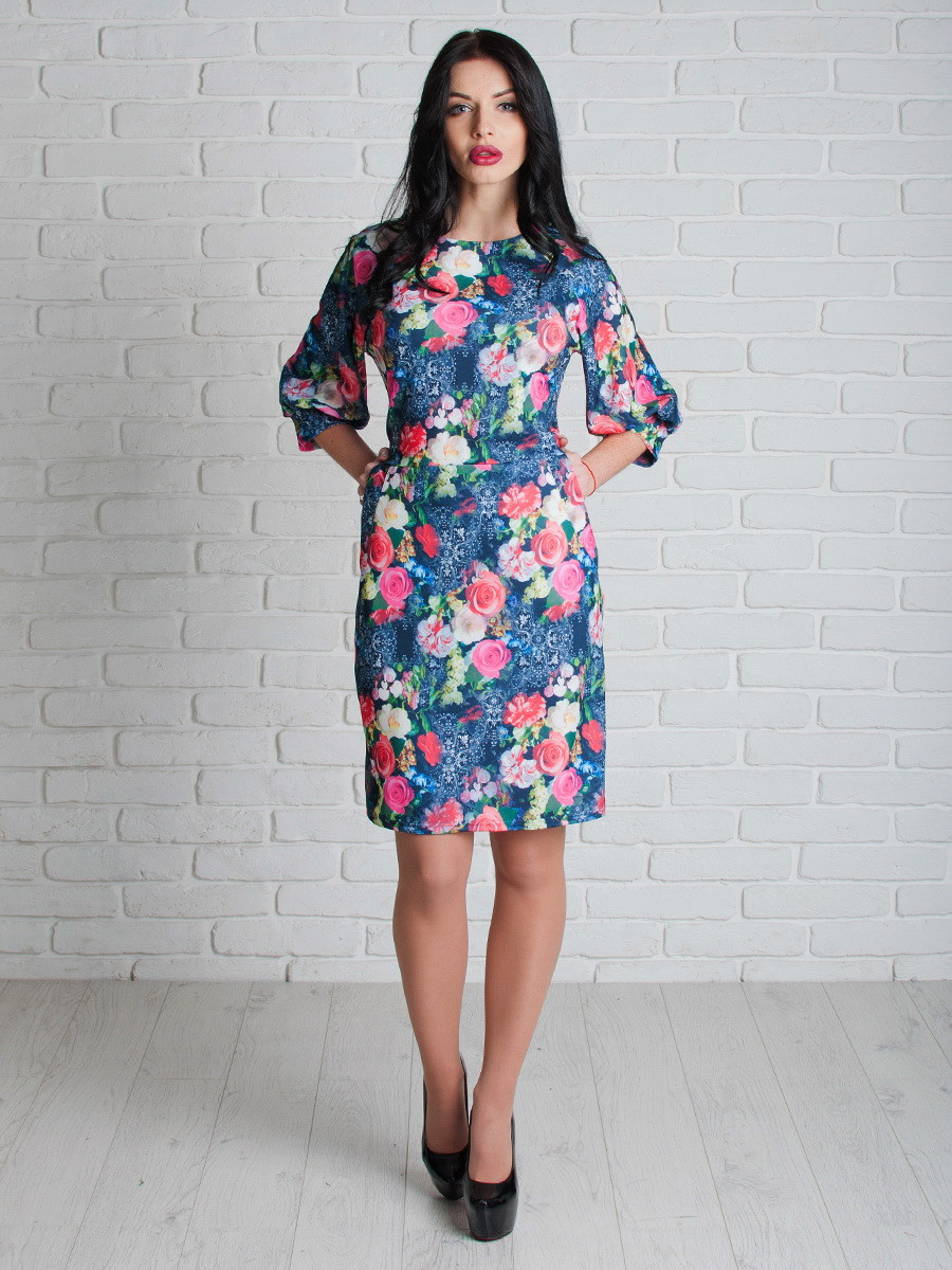 Нарядное женское платье с карманами 46, 50, 52