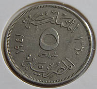 Монета Египта 5 миллим