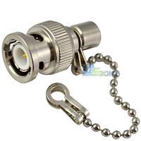 Разъем BNC (штекер, терминатор 50 Ом) с цепочкой для кабеля RG-58 (РК-50-3-13)