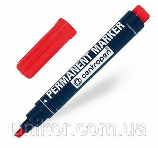 Маркер перманентный клиновидный 1-4,6 мм., 8576, стержень красный. CENTROPEN