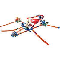 Трек Хот Вилс Автолифт 4 в 1 с 10 машинами Hot Wheels Auto Lift Expressway Play Set
