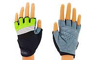Перчатки для фитнеса женские ZEL BC-3786 (PVC, PL, р-р XS-M)