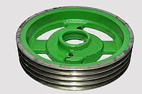 Шкив большой 4-ручейный роторной косилки шириной захвата 1,65м Z-069. Z-169