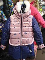 Зимняя курточка-пальтишко для девочки. размеры 128,134,140,146