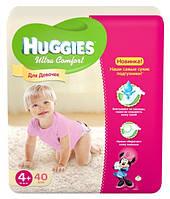 Подгузники Huggies для девочек Ultra Comfort 4+ (10-16 кг) 60 шт.