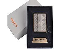 Зажигалка подарочная MAKE (спираль накаливания, USB) №4692-2 SO