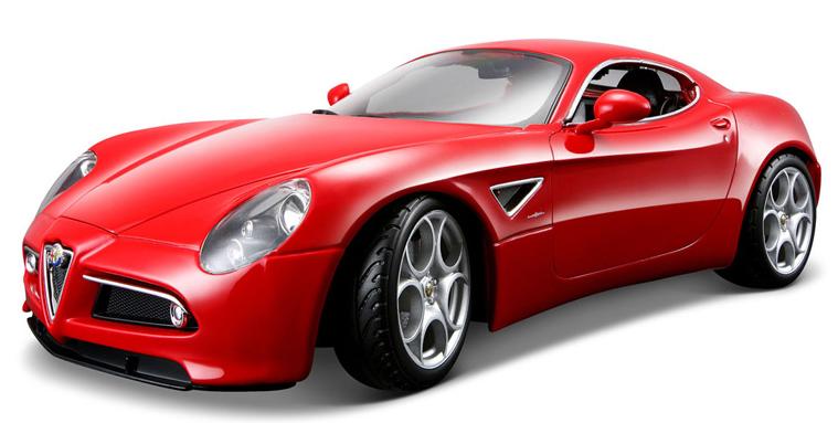 Автомодель Alfa 8C Competizione 2007 Bburago красный металлик, 1:32 (18-43004)