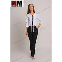 Медицинский костюм Милан (белый/черный) №1077
