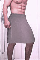 Килт для сауны льняной мужской размер 44-50