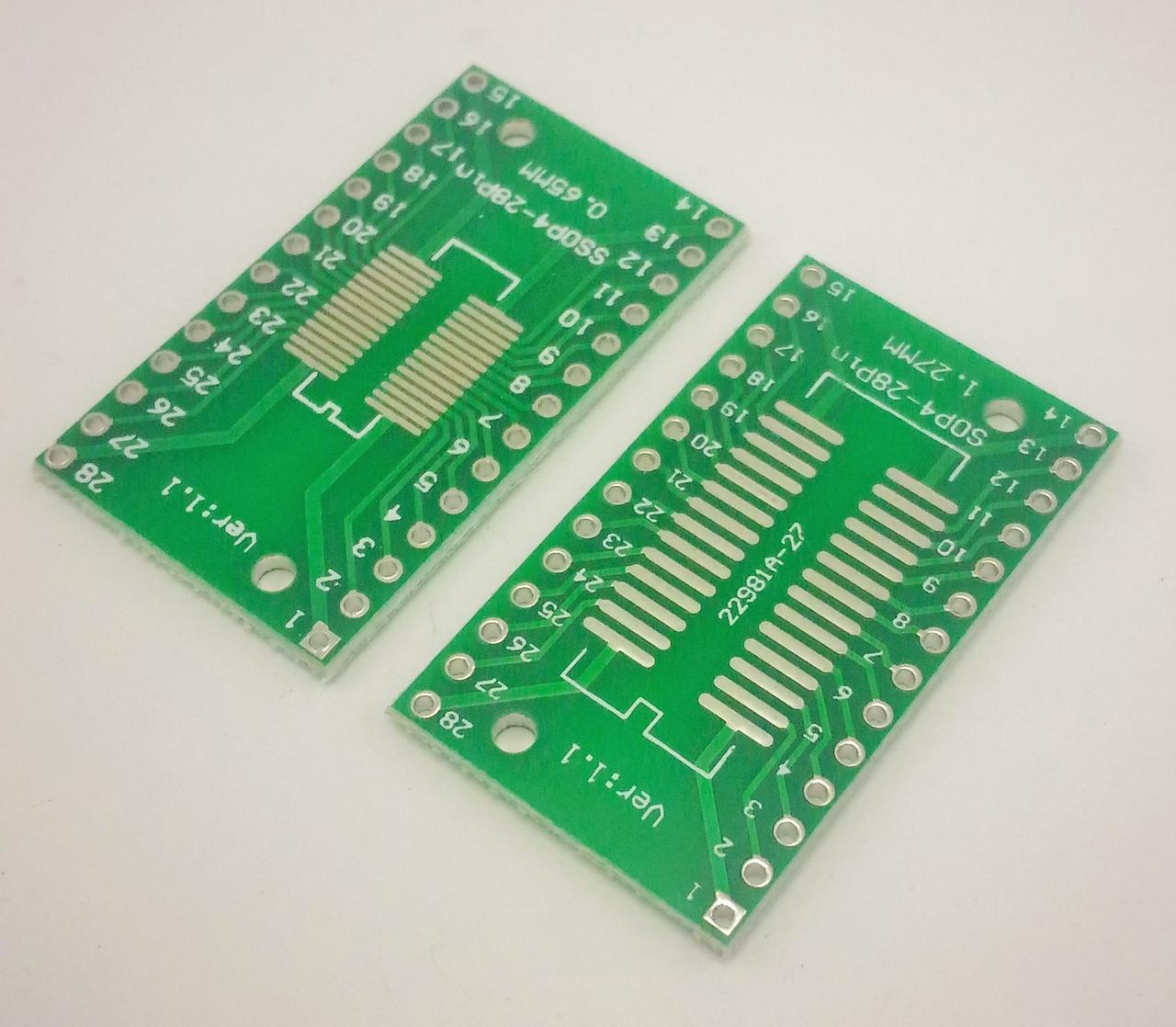 Переходник адаптер SO28 SSOP28 TSSOP28 на DIP28. 1 шт