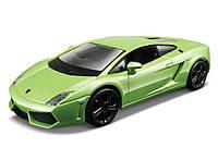 Автомодель LAMBORGHINI GALLARDO LP560-4 2008 Bburago белый, светло-зеленый 1:32 (18-43020