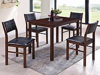 """Комплект стол и стулья """"Лорри"""" черный"""