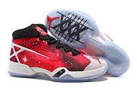 Баскетбольные кроcсовки мужские Nike Air Jordan XXX Galaxy White red