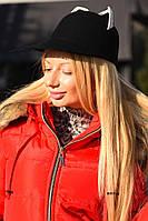 Фетровая шапка с ушками 8093 ш