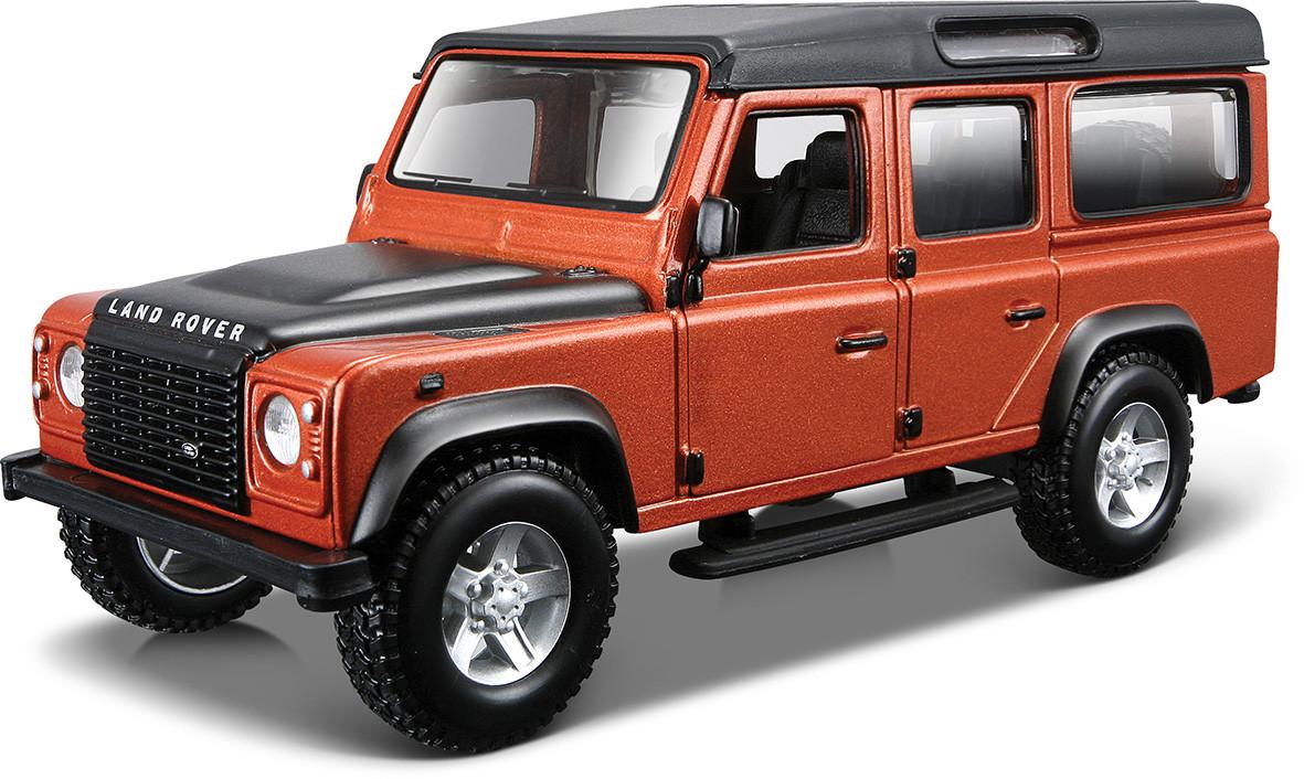 Автомодель LAND ROVER DEFENDER 110 Bburago белый, оранжевый металлик 1:32 (18-43029)