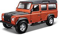 Автомодель LAND ROVER DEFENDER 110 Bburago белый, оранжевый металлик 1:32 (18-43029), фото 1