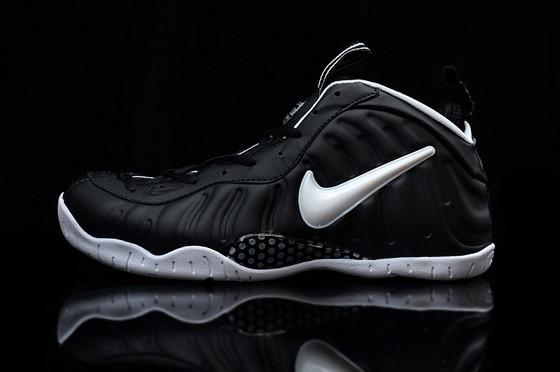 Кроссовки баскетбольные мужские Nike Lebron Foamposite Black-white Оригинал