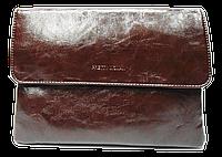 Женская класcическая сумка планшет из искусственной кожи коричневого цвета QGD-994277
