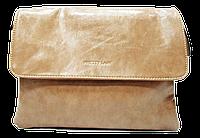 Женская класcическая сумка планшет из искусственной кожи бежевого цвета QGD-993542