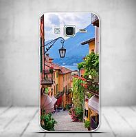 Силиконовый бампер для Samsung Galaxy J3 J300 с картинкой Улица в Черногории