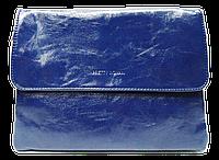 Женская класcическая сумка планшет из искусственной кожи синего цвета QGD-144267