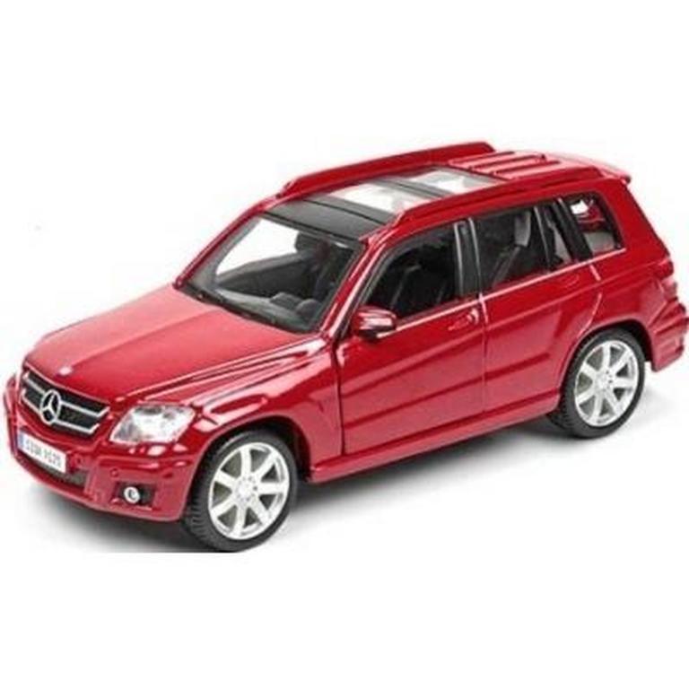 Автомодель MERCEDES BENZ GLK-CLASS Bburago красный, серебристый, 1:32 (18-43016)