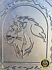 Печная дверца Лев Африканский, чугунные дверки для печи и барбекю, фото 3