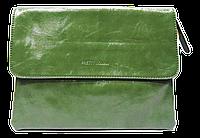 Женская класcическая сумка планшет из искусственной кожи зеленого цвета QGD-228735