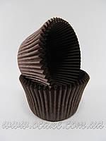 Бумажныя формы для маффинов высокие (коричневый цвет)