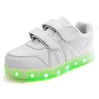 Детские светящиеся кроссовки LEDKED Kids White