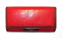 Кожаный кошелек красного цвета Cavaldi