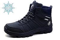 Зимние ботинки Classica, мужские, на меху, темно-синие, фото 1