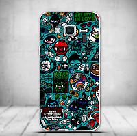 Силиконовый бампер для Samsung Galaxy J3 J300 с рисунком Коллаж из комиксов 2